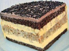 Cukrářský skvost, přezdívaný Paříž v plamenech Czech Desserts, Sweet Desserts, Sweet Recipes, Cake Recipes, Albanian Recipes, Czech Recipes, Food Cakes, Sweet And Salty, Desert Recipes