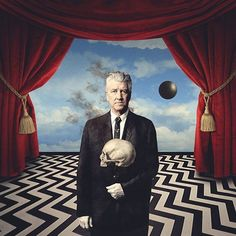 David Lynch X René Magritte by @beppe_conti #DavidLynch #ReneMagritte #BlackLodge #RedRoom #TheBlackLodge #TheRedRoom #surrealism