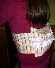Heat Pack with belt tutorial these are so useful filled with rice just pop in the microwave and heat! Maybe good for abbi girl?