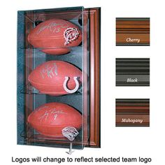 San Diego Chargers NFL Case-Up 3 Football Display Case