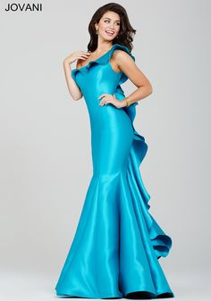 Peacock One-Shoulder Prom Dress 34068 - Prom Dresses