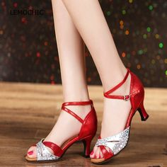 26.99$  Buy now - http://ali0ho.shopchina.info/1/go.php?t=32799937498 - LEMOCHIC latin tango jazz tap samba salsa ladies ballroom high heels arena classical newest high quality for women dancing shoes 26.99$ #buyonline