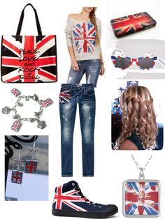 """UNITED KINGDOM! British Flag."" by ewheat on Polyvore"