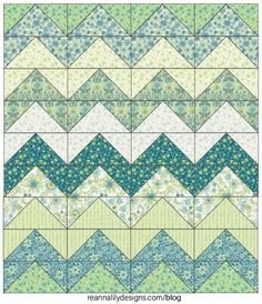 Sew Quilt Chevron Grande - Flying Geese Sewing Quilt Tutorial - Jen Eskridge - ReannaLily Designs - Jen Eskridge shares her FAST Chevron Grande Quilt tutorial created using no-waste flying geese sewing method. Make this large quilt in an afternoon. Chevron Baby Quilts, Chevron Quilt Pattern, Baby Quilt Patterns, Quilting Patterns, Scrappy Quilts, Easy Quilts, Mini Quilts, Nancy Zieman, Quilt Kits