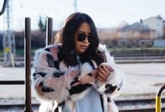I recreated this look by using items from the esprit shop. My multi-colored faux fur jacket. Faux Fur Jacket, Fur Coat, Low Key, Color, Outfits, Fashion, Spirit, Moda, Suits
