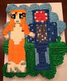Minecraft Stampy Longnose & Ballistic Squid Cupcake Cake