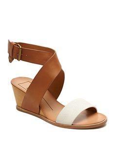 Dolce Vita Lola Leather Wedge Sandals