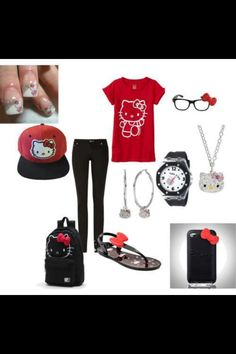 Hello kitty outfit!!!