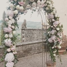 Iron arch And romantic Flowers