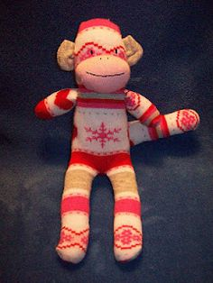 My tutorial for making a sock monkey out of 1 knee high sock