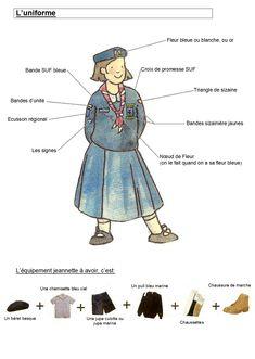 Brownie Uniform for the Scouts Unioniste de France- SUF (a non-wosm protestant scout association)