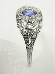 Antique Edwardian Filigree Ring I think this would go beautifully with my antique right hand ring.... Hint hint!
