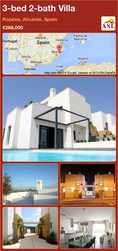 3-bed 2-bath Villa in Rojales, Alicante, Spain ►€288,000 #PropertyForSaleInSpain