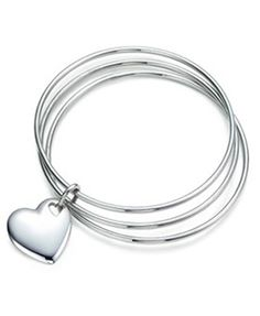 Tiffany & Co Two Hearts Triple Bangle