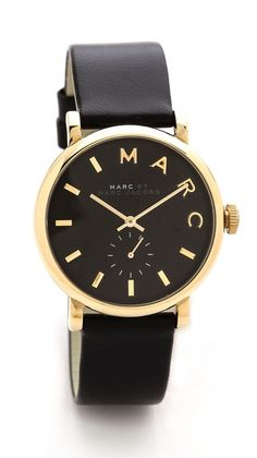 leather baker watch | marc by marc jacobs