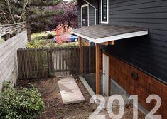 outdoor steps with railing side entrance backdoor backyard Outside Basement Door Plans Outside Basement Door Plans