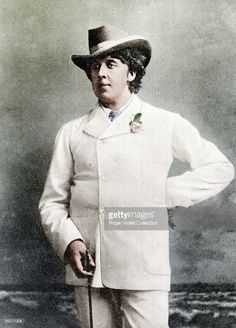 Oscar Wilde (1854-1900), Irish writer, in holidays, about 1893. Guillot de... Show more