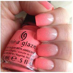 Neon gradient ombré nails