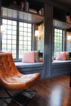 Window seat reading nook.