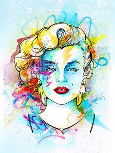 Urban Marilyn Monroe - Website: Urban Arts // Artista: Guto Reiiz
