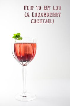 Flip to My Lou - Loganberry liqueur and club soda make a gorgeous, easy and delicious cocktail!
