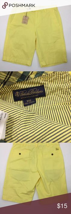 Mens Brooks Brothers Bermuda Short Yellow 32 NWT This item is in Good Pre-Owned Condition! There are NO Major Flaws with this item, and is free and clear of any Stains, Rips or Tears. Overall This Piece Looks Great! If you'd like other pictures, more information, measurements, etc please feel free to ask. If you notice a flaw that I did not mention, please contact me first before leaving negative feedback. I'm only human and may make a mistake once in a while. I ship Monday-Saturday usually…