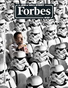 New cover design Forbes magazine from Spain Art director Fer Vallespin Magazine Front Cover, Magazine Cover Design, Magazine Covers, Book And Magazine, Print Magazine, Editorial Design, Book Design, Album Covers, Star Wars