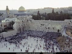 Image detail for -Crowds gather at Jerusalem's Wailing Wall, or Western Wall, sacred to ...