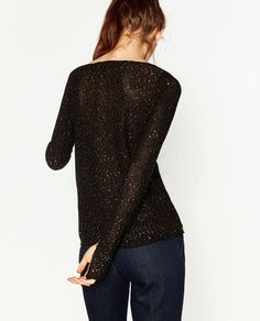 Image 6 of SEQUIN BOATNECK SWEATER from Zara