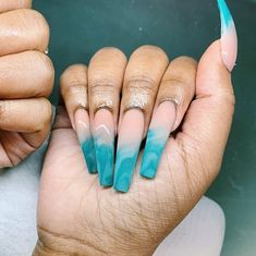15 Shaped Stylish Nails Colors To Get You Inspired To Try Aycrlic Nails, Bling Nails, Nail Nail, Coffin Nails, Manicure, Nail Swag, Blue Acrylic Nails, Ocean Blue Nails, Marbled Nails