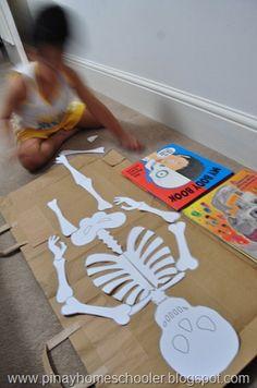 printable skeleton http://www.gamescraftscoloring.com/crafts/halloween_skeleton.htm
