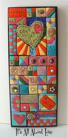 Polymer Clay Tiled Mosaic Wall Art Handmade by ...