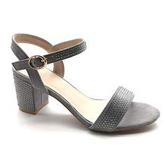 a711aa9ade4c8f Angkorly - Chaussure Mode Sandale Escarpin Petits Talons Plateforme Ouvert  Femme Strass Diamant lanière Talon Haut