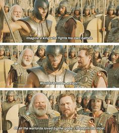 He hates you too. Troy Movie, Movie Tv, Famous Movie Quotes, Film Quotes, Tyler Mane, Julian Glover, Golden Jaguar, City Of Troy, Achilles And Patroclus