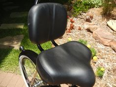 Wonder how a bike seat feels like with a backrest?. Try it! You won't regret. Sit tight and lean back while cruising on the brown Micargi bicycle seat with backrest. Ideal for most beach cruiser, lowrider, chopper, and BMX bikes. | eBay!