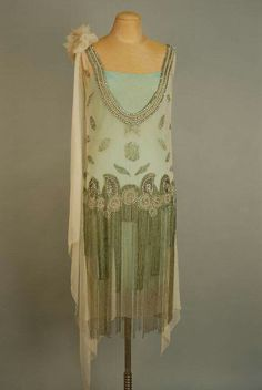 Beaded chiffon dress from the  1920s via The Jazz Age on Facebook