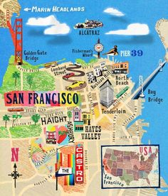 SanFrancisco, Cartographic by Anna Simmons