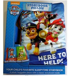 Paw Patrol Plush Huggable Cuddle Pillow with a Classic 8 page Storybook Inside #PawPatrol