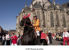 "Procession of the Golden Carriage and the Battle of ""Lumeçon"" called Doudou.  -   mon ami Rio et Saint Georges !"