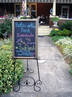 Really want a sign for my porch! Announcing fun events!