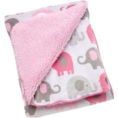Little Bedding by NoJo Elephant Time Velboa Blanket, Pink, Gray Elephant Nursery Girl, Baby Elephant, Elephant Print, Elephant Bedding, Girl Nursery, Nursery Ideas, Elephant Pattern, Project Nursery, Baby Girl Bedding