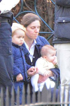 Love the way George has his hand in Nanny Maria's hand. (Is little Charlotte sucking her thumb?!)
