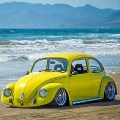 Volkswagen New Beetle is a compact car introduced by Volkswagen in The exterior design of this car is taken from the original Beetle. Vw Bus, Volkswagen New Beetle, Beetle Car, Beetle Juice, Vw Beach, Kdf Wagen, Hot Vw, Jeep, Vw Vintage