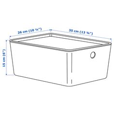 IKEA - KUGGIS Box with lid white