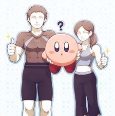 Super Smash Bros - kirby and wii fit trainers [pixiv]