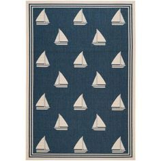 Safavieh Courtyard Aleta Power-Loomed Indoor/Outdoor Area Rug, Navy/Beige, Size: x Coastal Area Rugs, Coastal Living, Navy Rug, Aleta, Indoor Outdoor Area Rugs, Rugs Online, Power Loom, Online Home Decor Stores, Beige Area Rugs