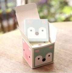 Kawaii Memo Pad Qnimal Memo Box 470SHEETS | eBay