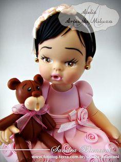 Ateliê Artes da Miluxa: Topo de Bolo Infantil em Biscuit
