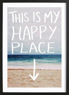 Happy Place - Leah Flores - Affiche premium encadrée