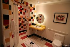 Kids bathroom at the Mickey Mouse Penthouse.